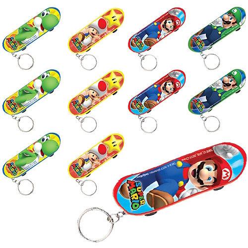 Super Mario Skateboard Keychains 48ct Image #1