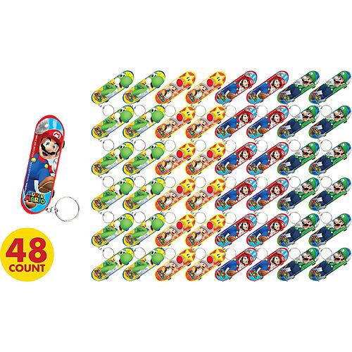 Super Mario Skateboard Keychains 48ct Image #2