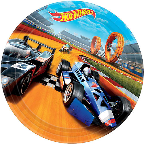 Hot Wheels Lunch Plates 8ct Image #1