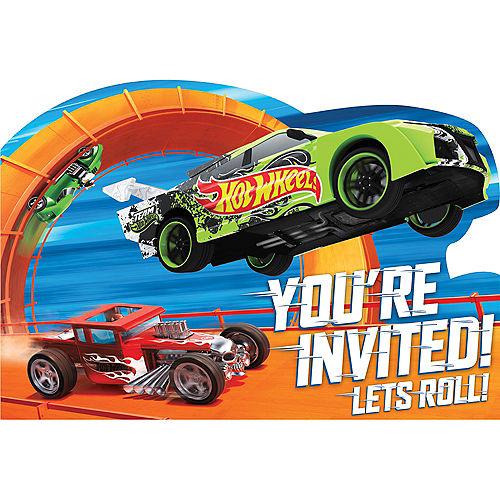 Hot Wheels Invitations 8ct Image #1
