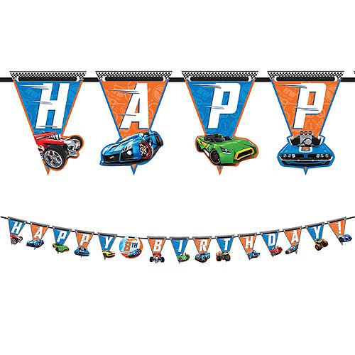 Hot Wheels Birthday Banner Kit Image #1