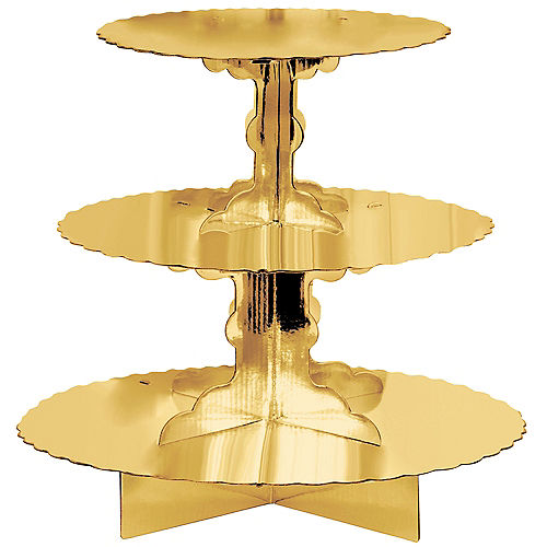 Gold Cupcake Stand Image #1