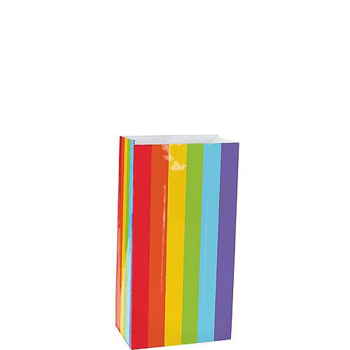 Mini Rainbow Paper Treat Bags 12ct Image #1