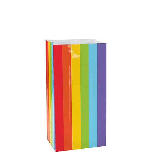 Medium Rainbow Paper Treat Bags 12ct Image #1