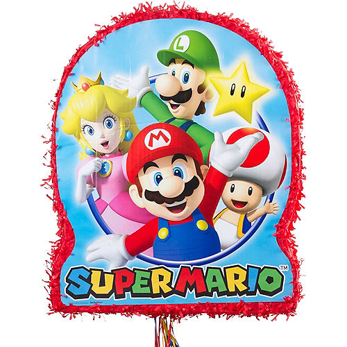 Pull String Super Mario Pinata Image #1