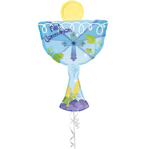 Boy's First Communion Balloon - Giant Chalice Image #1