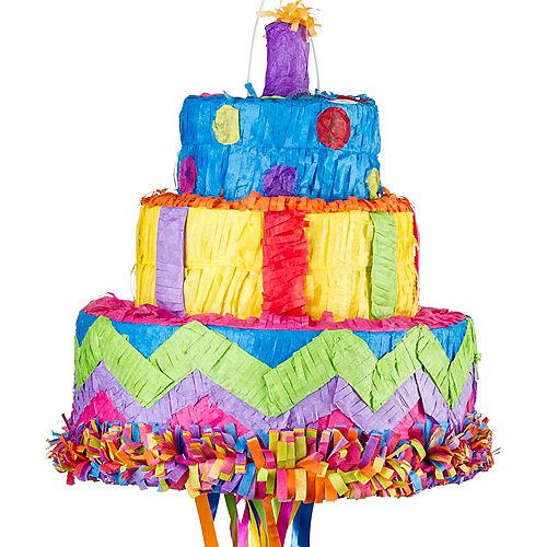 Pull String Birthday Cake Pinata Image #1