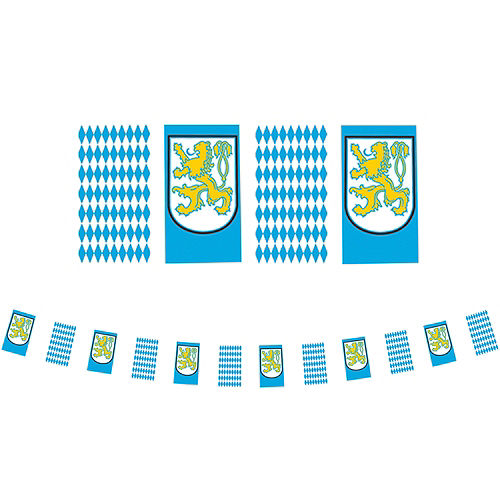 Bavarian Flag Pennant Banner - Oktoberfest Image #1