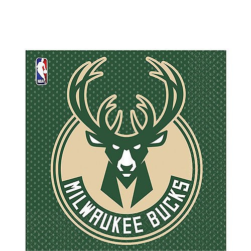 Milwaukee Bucks Lunch Napkins 16ct Image #1