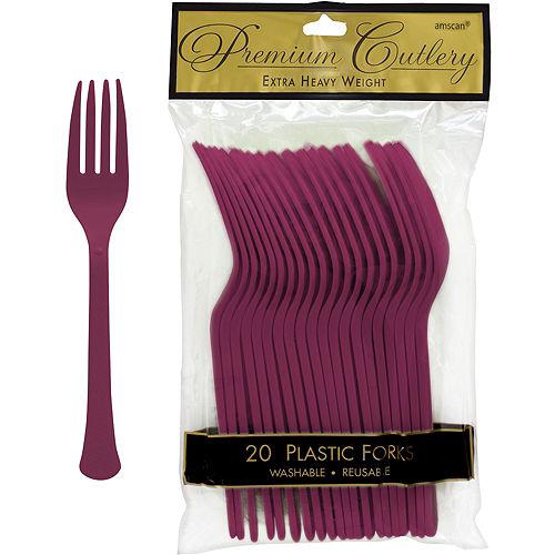 Berry Premium Plastic Forks 20ct Image #1