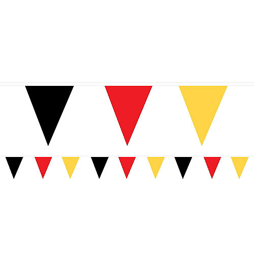 Black, Red & Yellow Pennant Banner Image #1