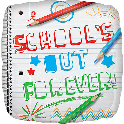 School's Out Forever Graduation Balloon Image #1
