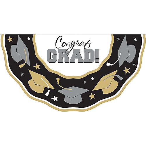 Black, Gold & Silver Graduation Bunting Image #1