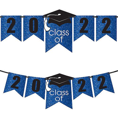 Glitter Blue Graduation Year Banner Kit, 6.5ft - Congrats Grad Image #1