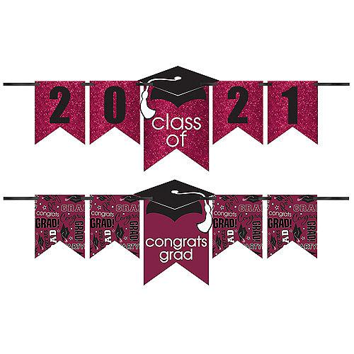Glitter Berry Graduation Year Banner Kit, 6.5ft - Congrats Grad Image #1