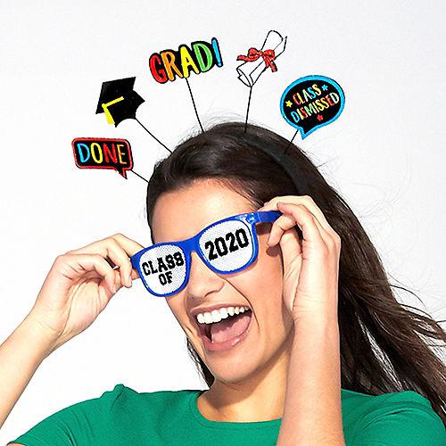 Multicolor Class of 2021 Printed Plastic Glasses, 10ct Image #2