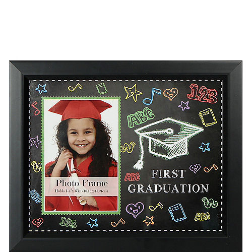 First Graduation Black Picture Frame Image #1