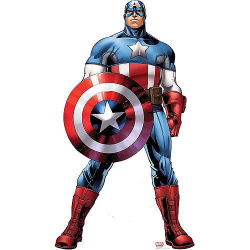 Captain America Life-Size Cardboard Cutout - Avengers Image #1