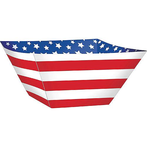 Patriotic American Flag Snack Bowls 3ct Image #1