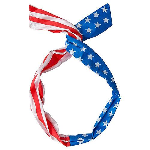 Patriotic American Flag Rockabilly Head Scarf Image #1