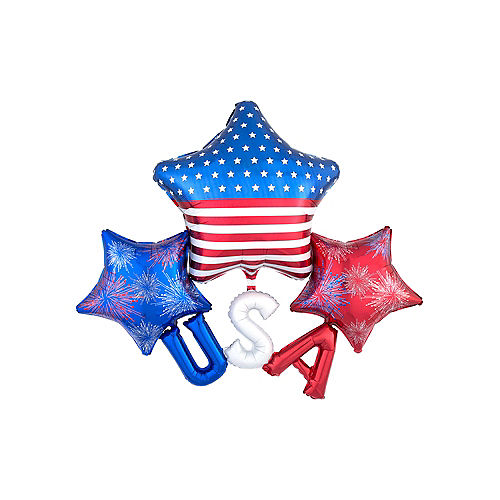 Patriotic USA Star Cluster Balloon, 45in Image #1