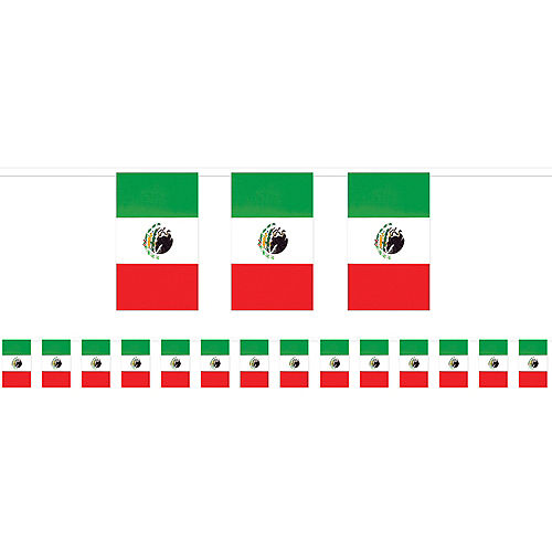 Giant Mexican Flag Pennant Banner Image #1