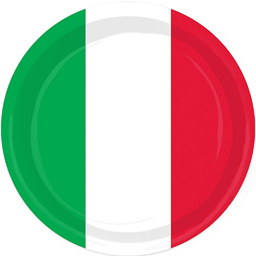 Red, White & Green Lunch Plates 8ct Image #1