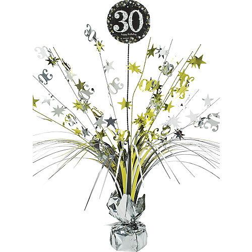 30th Birthday Spray Centerpiece - Sparkling Celebration Image #1