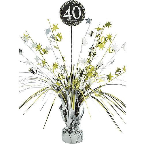 40th Birthday Spray Centerpiece - Sparkling Celebration Image #1