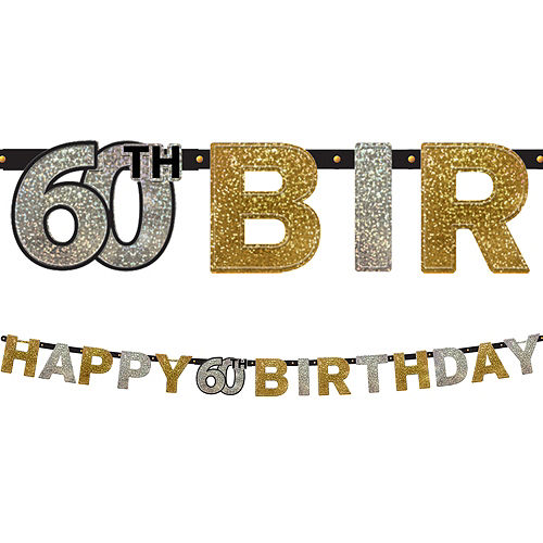 Prismatic 60th Birthday Banner - Sparkling Celebration Image #1