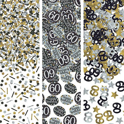 60th Birthday Confetti - Sparkling Celebration Image #1