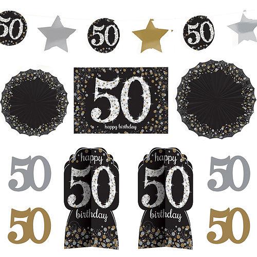 50th Birthday Room Decorating Kit 10pc - Sparkling Celebration Image #1