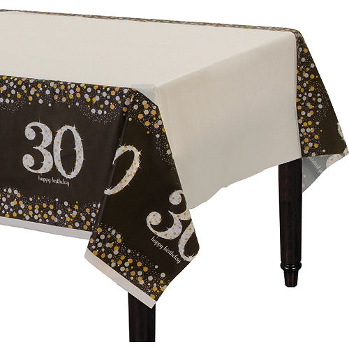 30th Birthday Table Cover - Sparkling Celebration Image #1