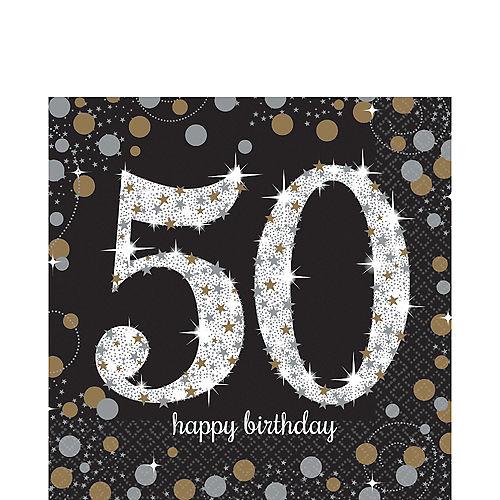 50th Birthday Lunch Napkins 16ct - Sparkling Celebration Image #1