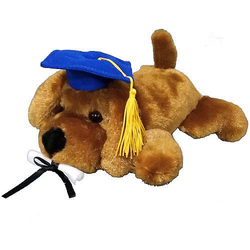 Blue Graduation Dog Plush Image #1