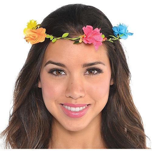 Bright Floral Headwreath Image #1
