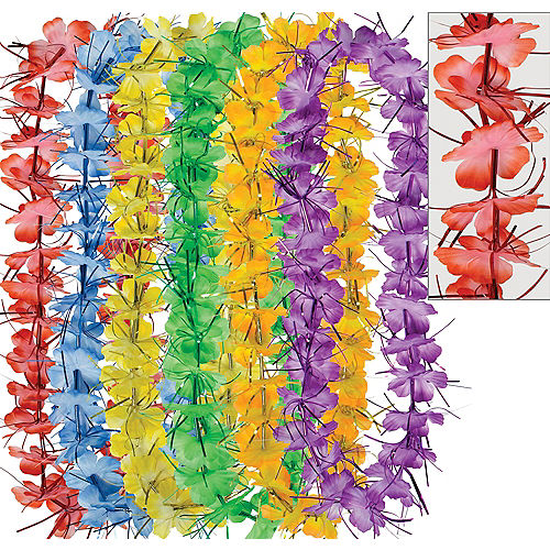 Colorful Tinsel Leis 6ct Image #1