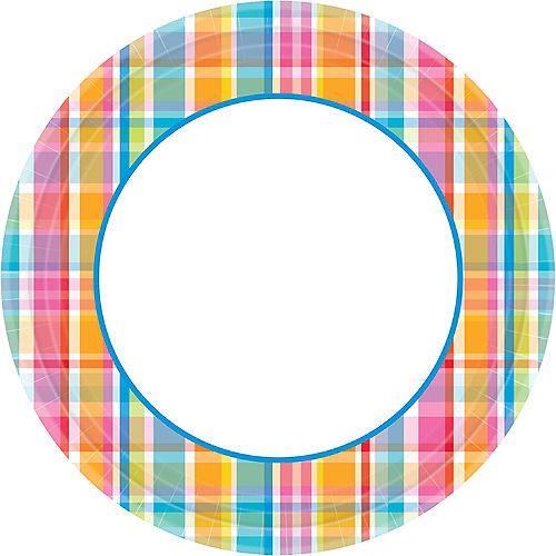 Sunny Plaid Dinner Plates 40ct Image #1