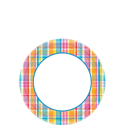 Sunny Plaid Dessert Plates 40ct Image #1