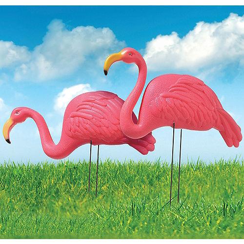 Pink Flamingo Yard Stakes 2ct Image #1