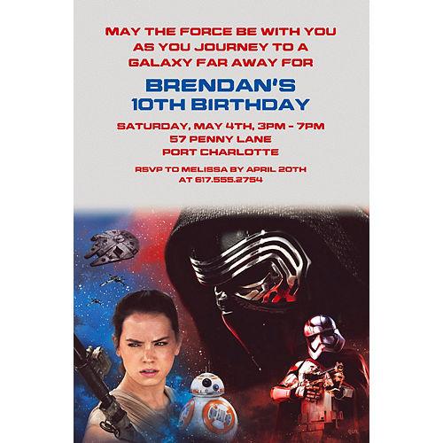 Custom Star Wars: The Force Awakens Invitation Image #1