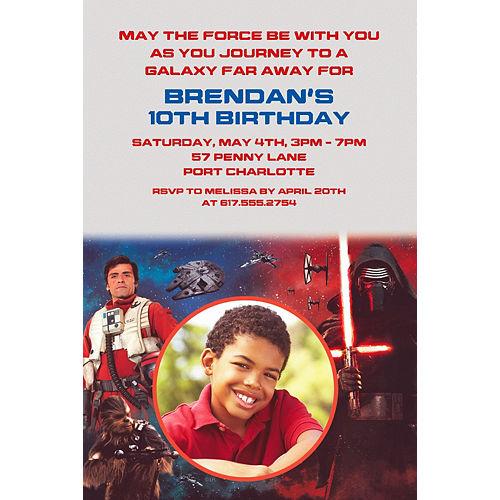 Custom Star Wars: The Force Awakens Photo Invitation Image #1