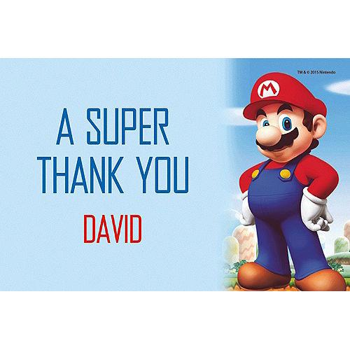 Custom Super Mario Thank You Note Image #1