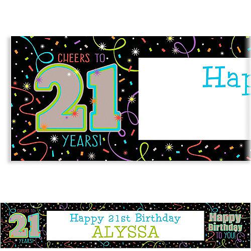 Custom Brilliant 21st Birthday Banner Image #1