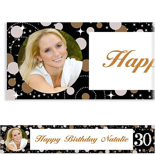 Custom Sparkling Celebration 30 Photo Banner Image #1