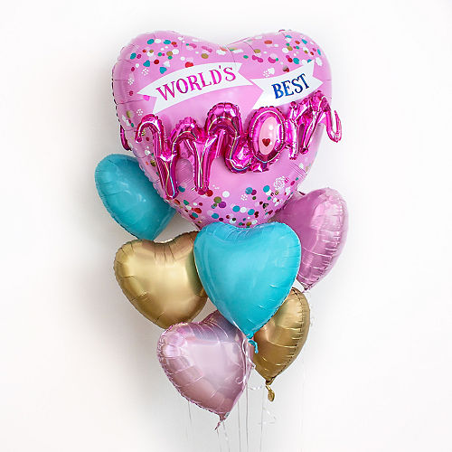 World's Best Mom Heart Balloon, 18in Image #2