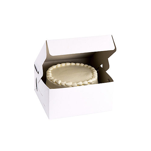 White Square Cake Box, 10in Image #1