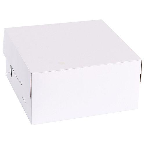 White Square Cake Box, 10in Image #2
