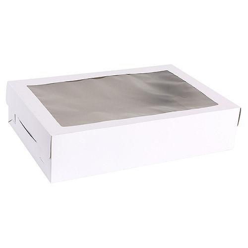 White Window Sheet Cake Box, 21in x 14in Image #2