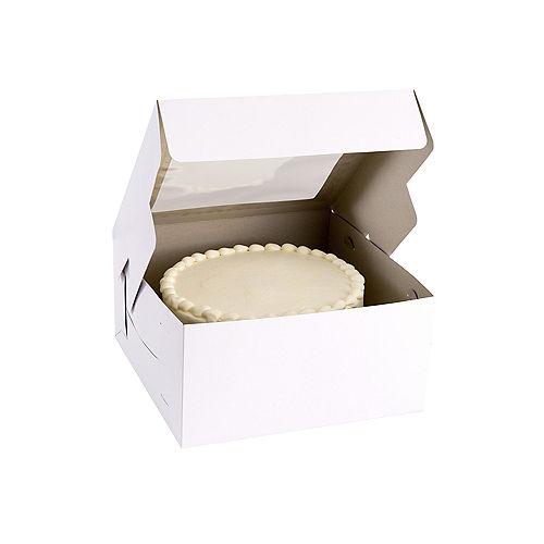 White Square Window Cake Box, 12in Image #1